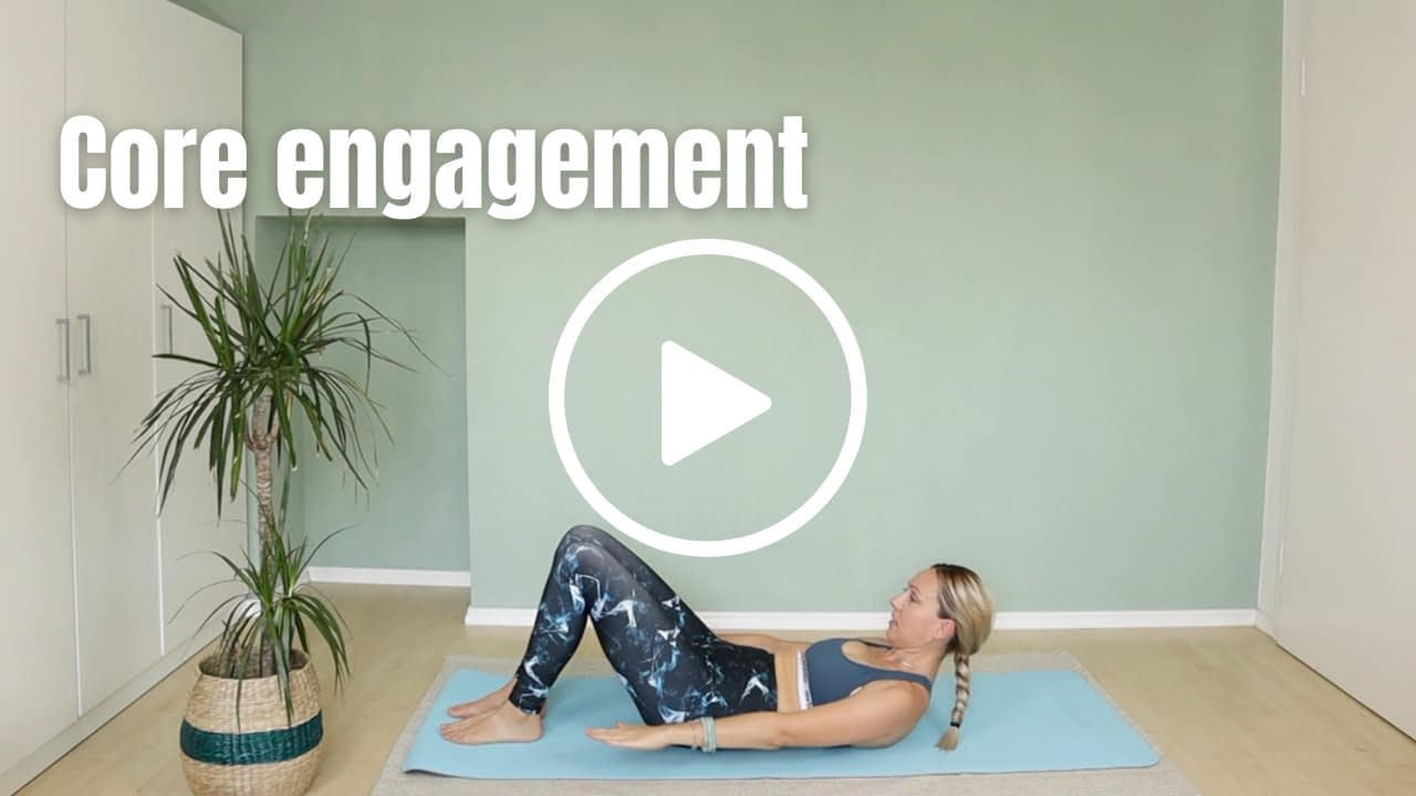 Pilates Instructor in hundred pilates position